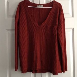 Urban Outfitters Waffle Material Long Sleeve Tee